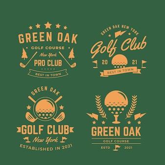 Colección de logos de golf vintage