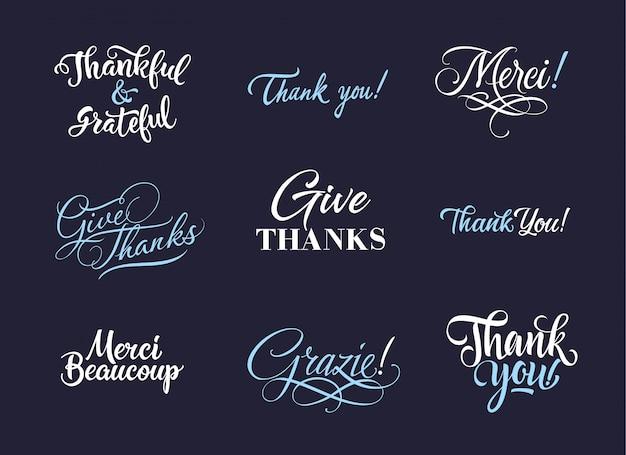 Colección de logos de gracias