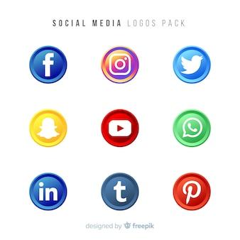 Colección de logos gradientes de redes sociales