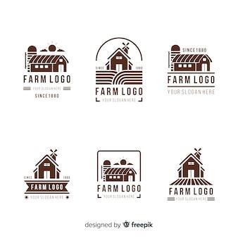 Colección logos granja planos