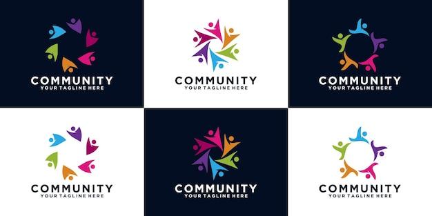 Colección de logos para grupos de personas, comunidades y equipos de trabajo