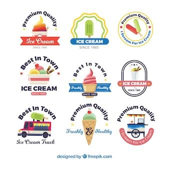 Colección de logos de heladería