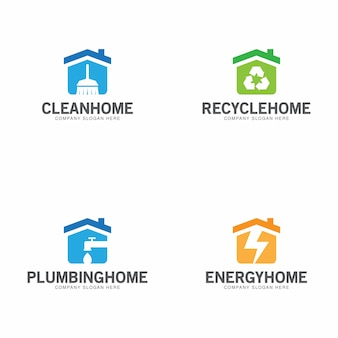 Colección de logos para el hogar