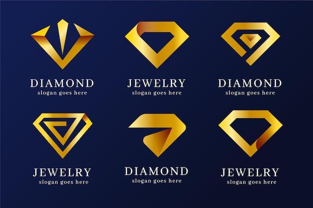 Colección de logos de joyas degradados