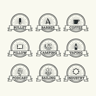 Colección de logos con lazo