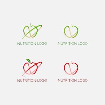 Colección de logos de manzana