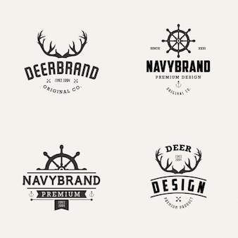 Colección de logos de marina y de ciervos