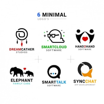 Colección de logos minimalista