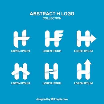 Colección de logos modernos de letra