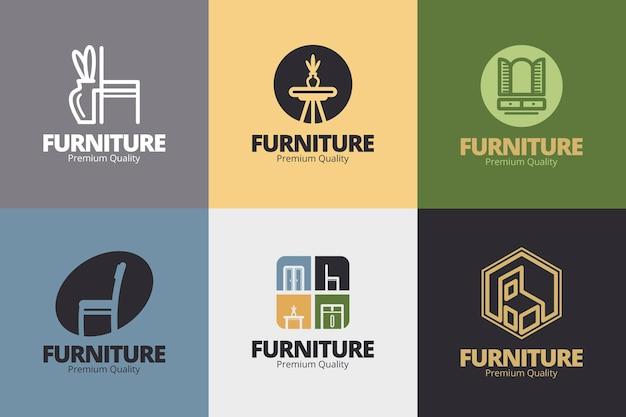 Colección de logos de muebles