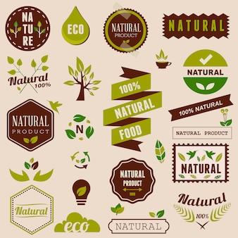 Colección de logos naturales