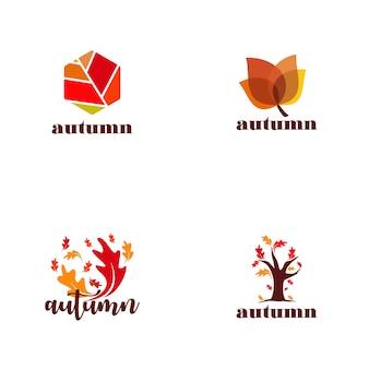 Colección de logos de otoño