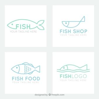 Colección de logos de peces para marcas de empresas