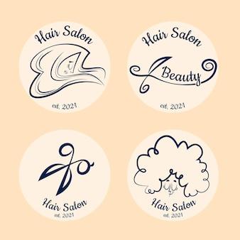 Colección de logos de peluquería