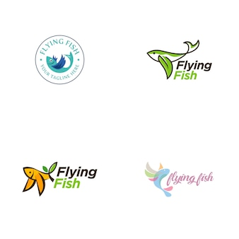 Colección de logos de pez volador