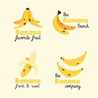 Colección de logos de plátanos
