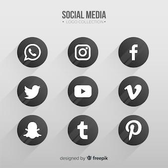 Colección logos redes sociales