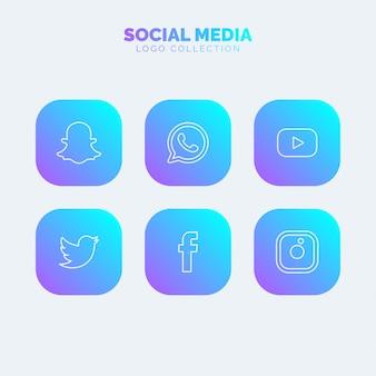 Colección de logos de redes sociales