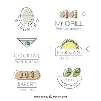 Colección de logos de restaurante de lujo