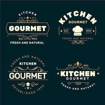 Colección de logos de restaurantes retro