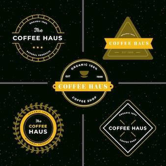 Colección de logos retro de cafetería