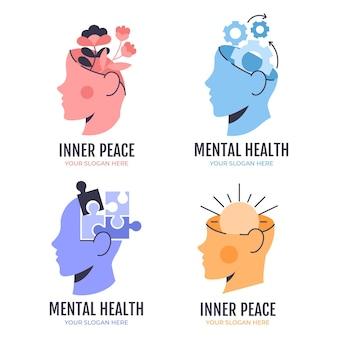Colección de logos de salud mental