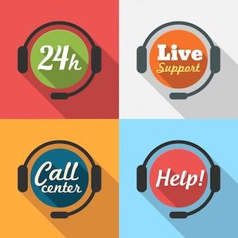 Colección de logos de servicio 24 horas