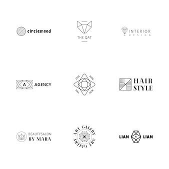 Colección de logos simétricos