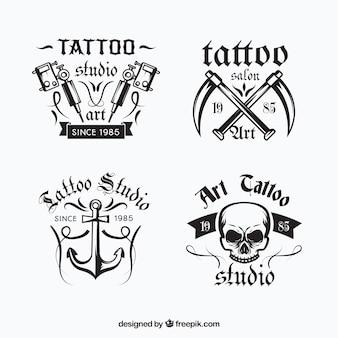 Colección de logos de tatuaje