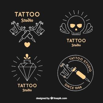 Colección de logos de tatuajes elegante