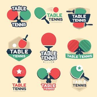 Colección de logos de tenis de mesa