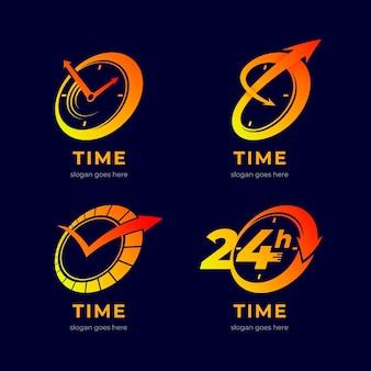 Colección de logos de tiempo degradado
