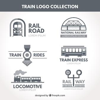 Colección de logos de tren