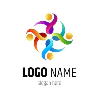 Colección de logos de unidad humana