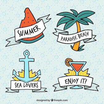 Colección de logos de verano