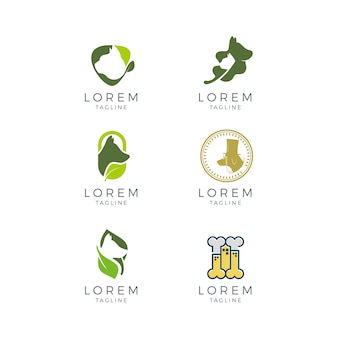 Colección de logos de veterinario
