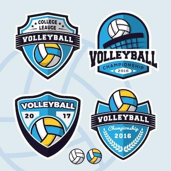 Colección de logos de volleyball