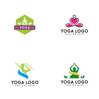 Colección de logos de yoga