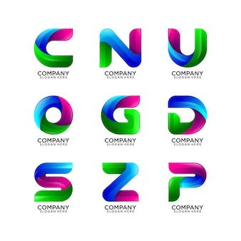 Colección de logotipo abstracto de la letra