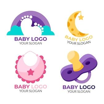 Colección de logotipo de bebé y plantilla de lema