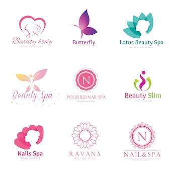 Colección del logotipo de la belleza.