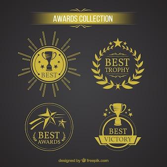 Colección del logotipo concesión de oro