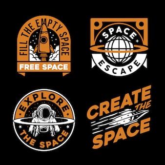 Colección de logotipo espacial