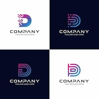Colección de logotipo de la letra d