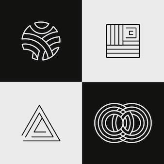 Colección de logotipo lineal abstracto