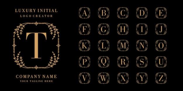 Colección de logotipo ornamental monograma o letra inicial