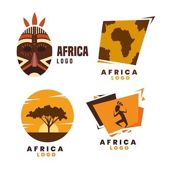 Colección de logotipos de áfrica