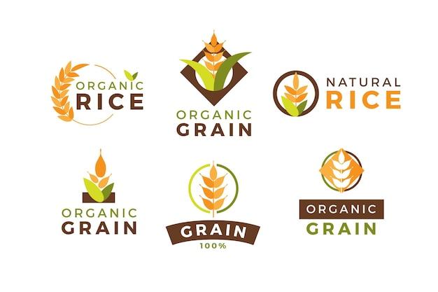 Colección de logotipos de arroz