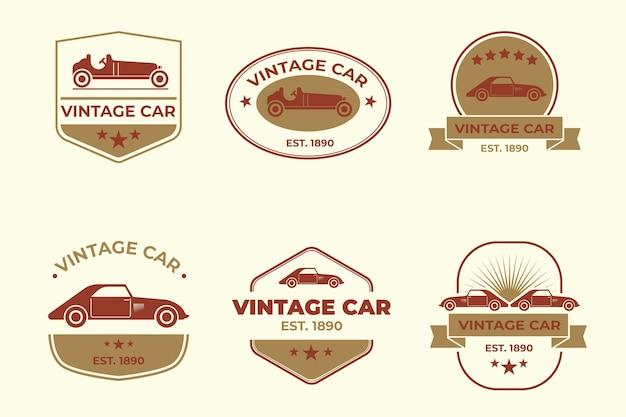 Colección de logotipos de autos antiguos