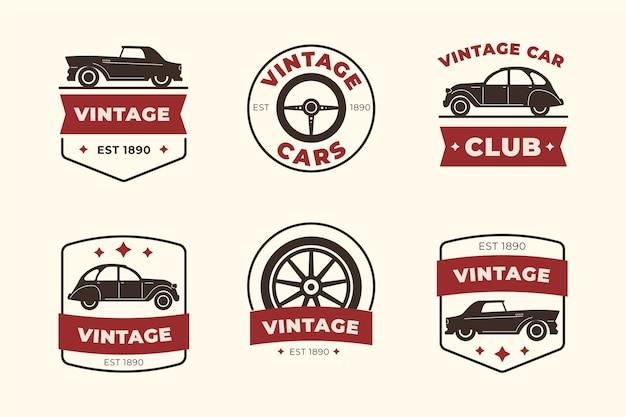 Colección de logotipos de autos de diseño vintage